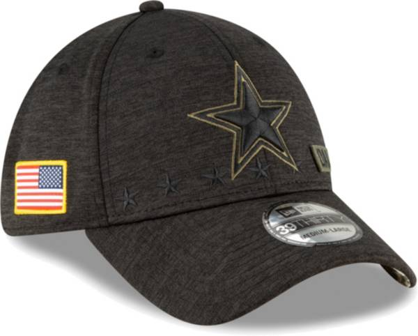 New Era Men's Salute to Service Dallas Cowboys 39Thirty Stretch Fit Black Hat product image