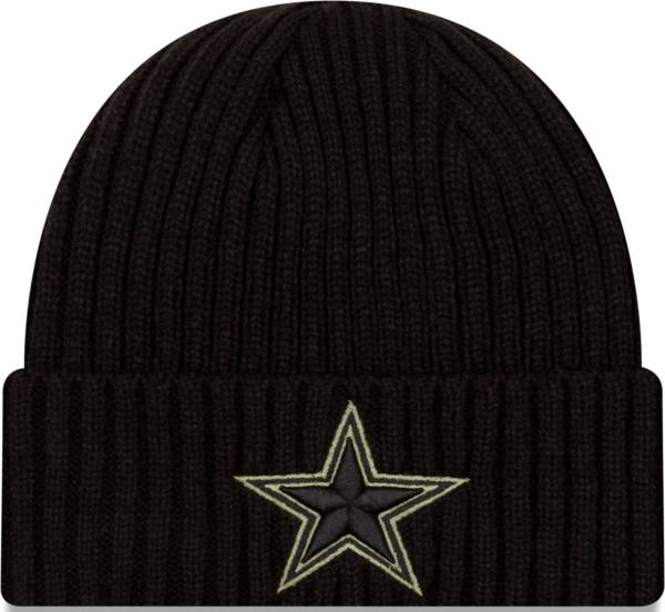 New Era Men's Salute to Service Dallas Cowboys Black Knit Hat product image