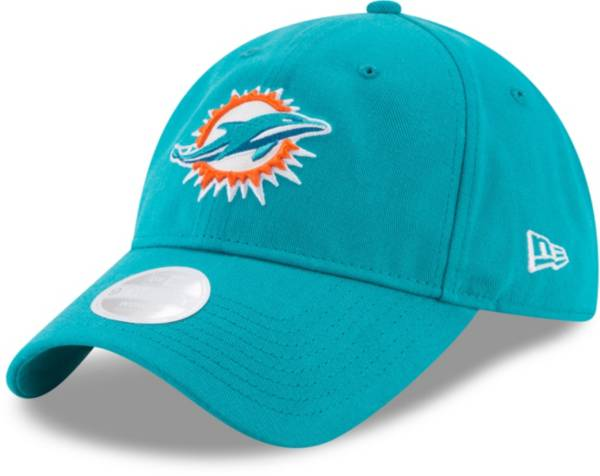 New Era Women's Miami Dolphins Aqua Glisten 9Twenty Adjustable Hat product image