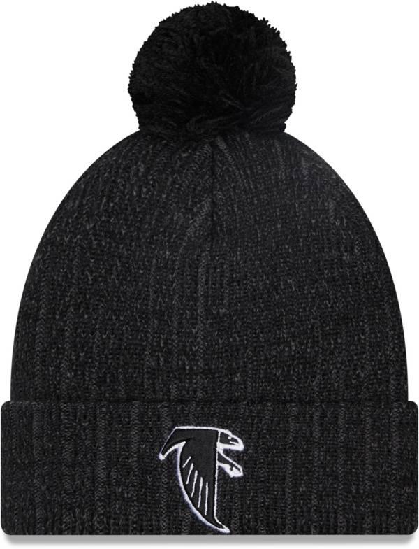 New Era Men's Atlanta Falcons Black Breeze Knit Pom Beanie product image
