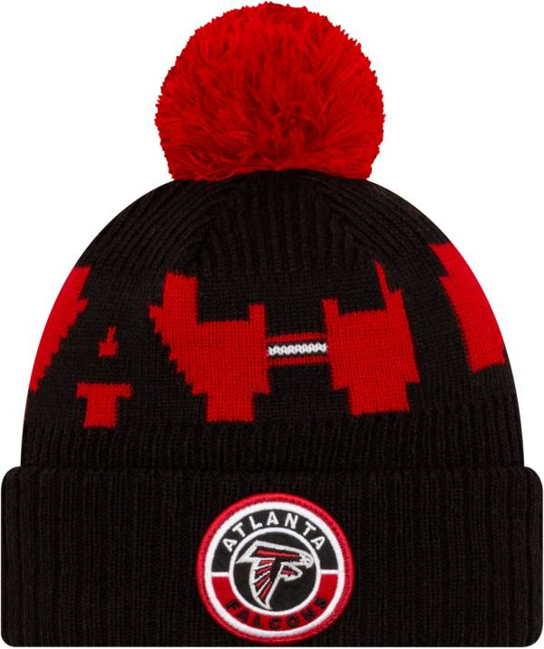 New Era Men's Atlanta Falcons Sideline Sport Black Knit Hat product image