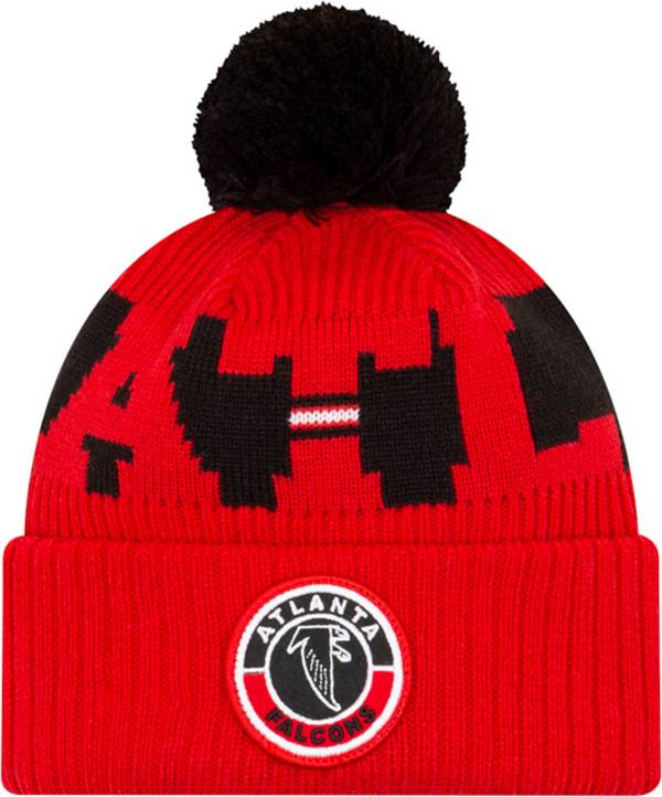New Era Men's Atlanta Falcons Sideline Sport Pom Knit Hat product image