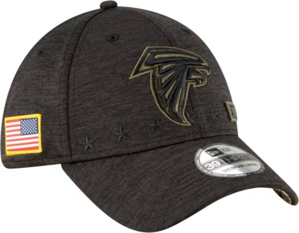 New Era Men's Salute to Service Atlanta Falcons 39Thirty Stretch Fit Black Hat product image