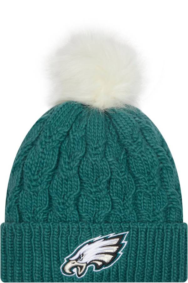 New Era Women's Philadelphia Eagles Green Flurry Knit Pom Beanie product image