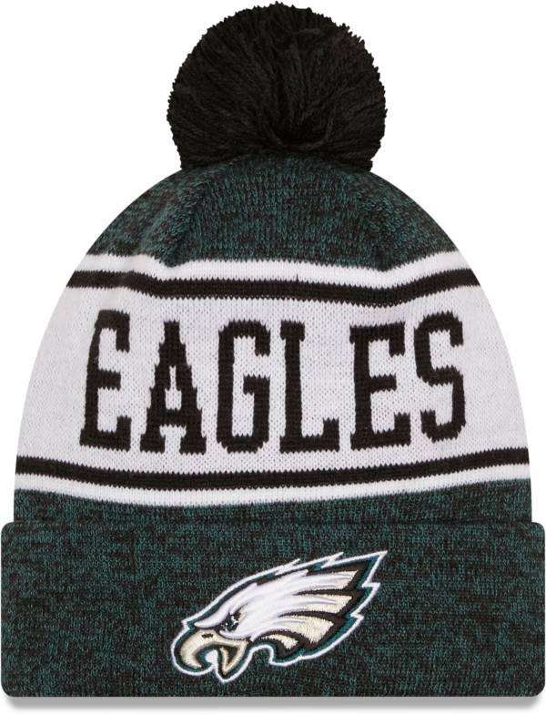 New Era Men's Philadelphia Eagles Green Banner Knit Pom Beanie product image