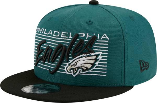 New Era Men's Philadelphia Eagles  9Fifty Adjustable Dark Green Hat product image
