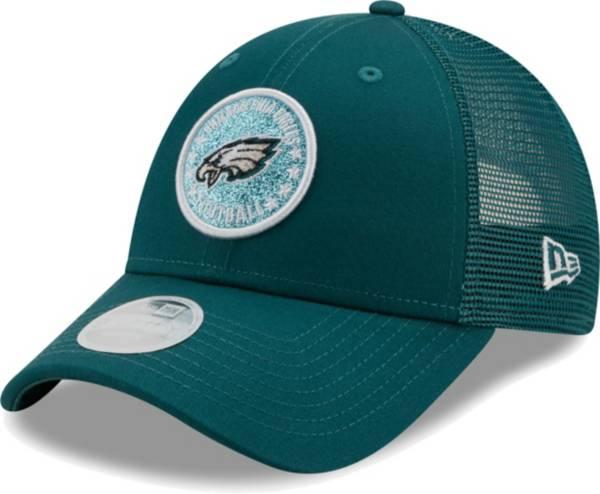 New Era Women's Philadelphia Eagles Green Sparkle Adjustable Trucker Hat product image