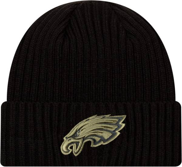 New Era Men's Salute to Service Philadelphia Eagles Black Knit Hat product image