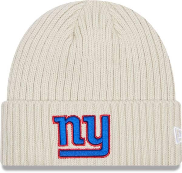 New Era Men's New York Giants Core Cuffed Knit White Beanie product image