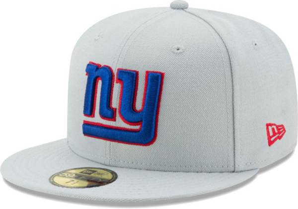 New Era Men's New York Giants Grey 59Fifity Logo Fitted Hat product image
