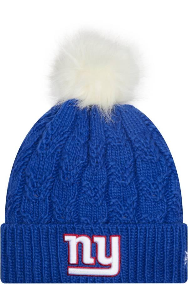New Era Women's New York Giants Blue Flurry Knit Pom Beanie product image