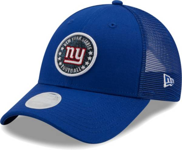 New Era Women's New York Giants Blue Sparkle Adjustable Trucker Hat product image