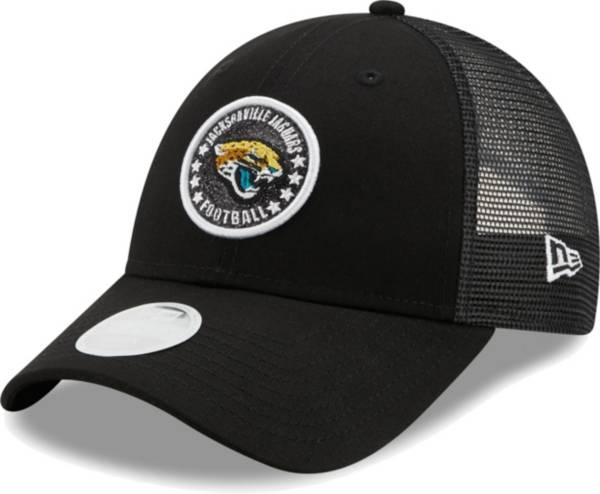 New Era Women's Jacksonville Jaguars Black Sparkle Adjustable Trucker Hat product image