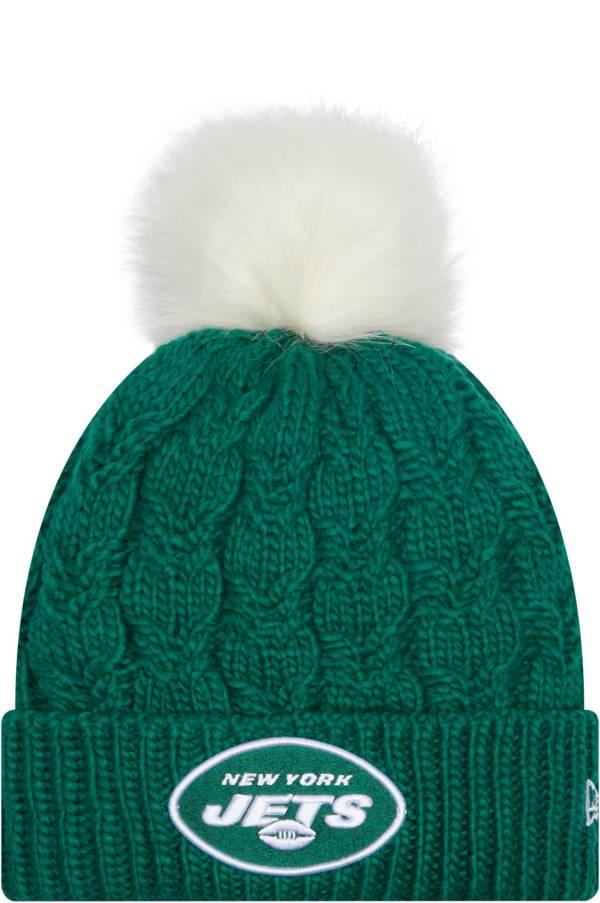 New Era Women's New York Jets Green Flurry Knit Pom Beanie product image