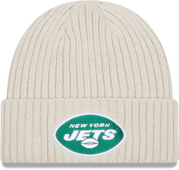 New Era Men's New York Jets Core Cuffed Knit White Beanie product image