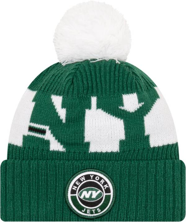New Era Men's New York Jets Sideline Sport Green Knit Hat product image