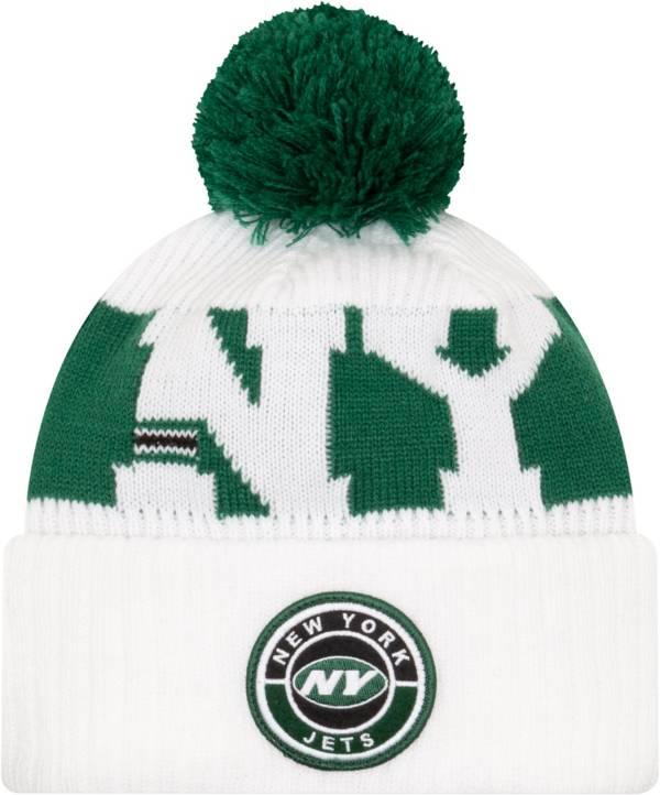 New Era Men's New York Jets Sideline Sport White Knit Hat product image