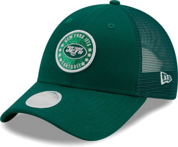 New Era Women's New York Jets Green Sparkle Adjustable Trucker Hat product image
