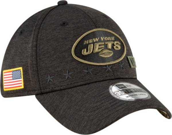 New Era Men's Salute to Service New York Jets 39Thirty Stretch Fit Black Hat product image
