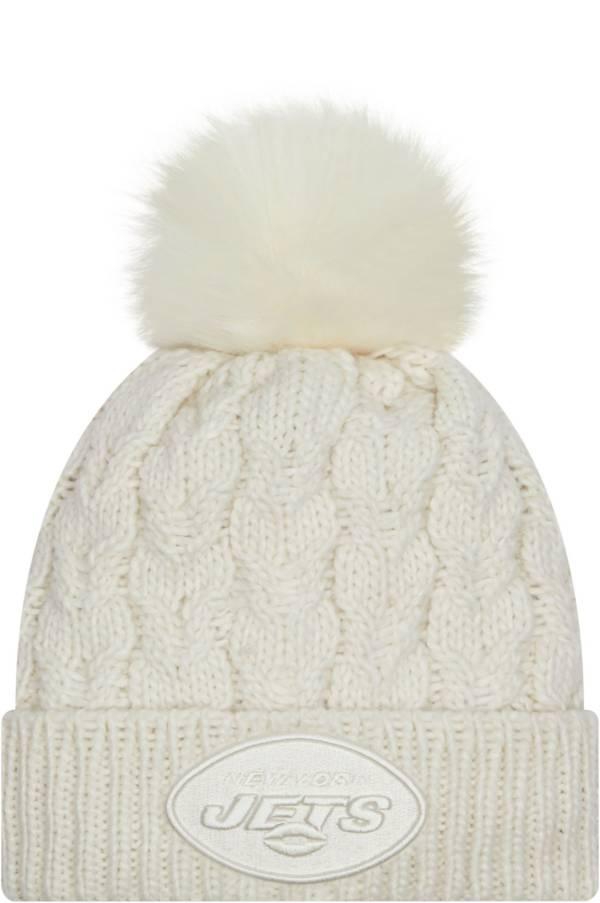 New Era Women's New York Jets White Flurry Knit Pom Beanie product image