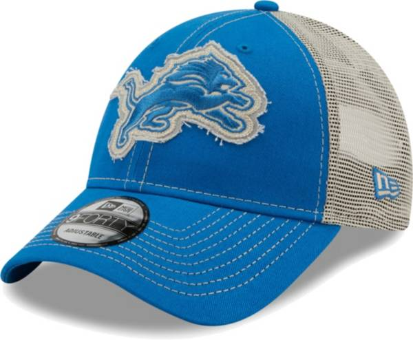 New Era Men's Detroit Lions Blue 9Forty Rugged Adjustable Hat product image