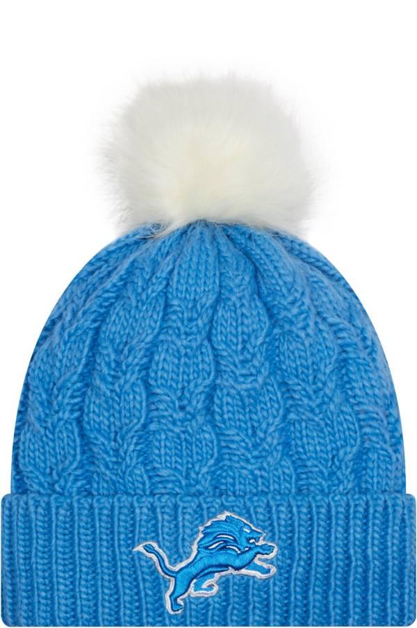 New Era Women's Detroit Lions Blue Flurry Knit Pom Beanie product image