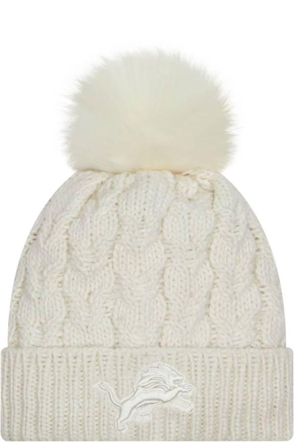 New Era Women's Detroit Lions White Flurry Knit Pom Beanie product image