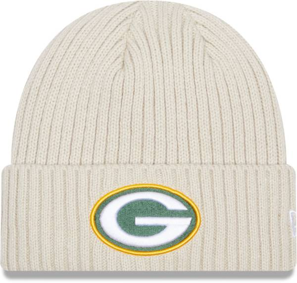New Era Men's Green Bay Packers Core Cuffed Knit White Beanie product image
