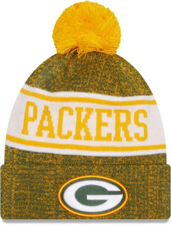 New Era Men's Green Bay Packers Green Banner Knit Pom Beanie product image