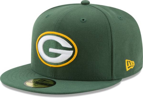 New Era Men's Green Bay Packers Green 59Fifity Logo Fitted Hat product image