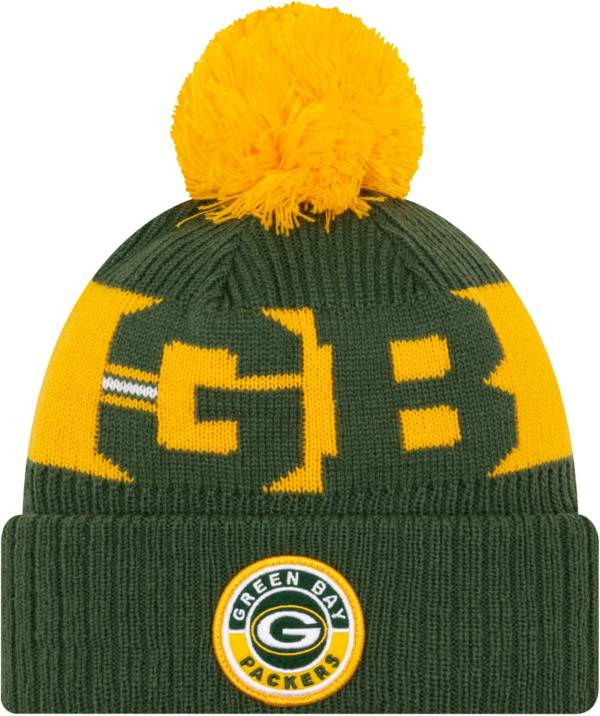 New Era Men's Green Bay Packers Sideline Sport Green Knit Hat product image