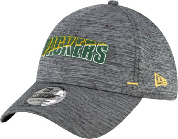 New Era Men's Green Bay Packers Grey Summer Sideline 39Thirty Stretch Fit Hat product image