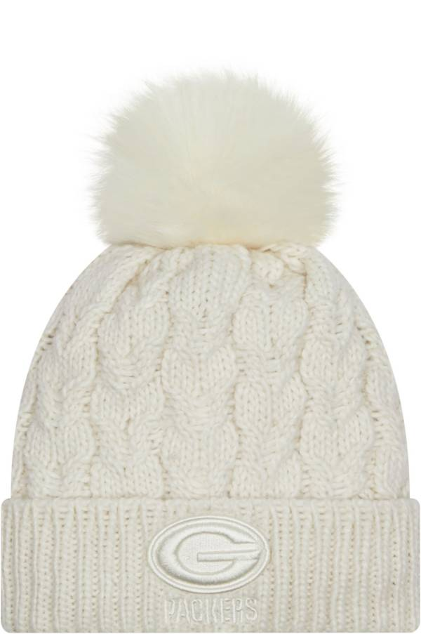 New Era Women's Green Bay Packers White Flurry Knit Pom Beanie product image