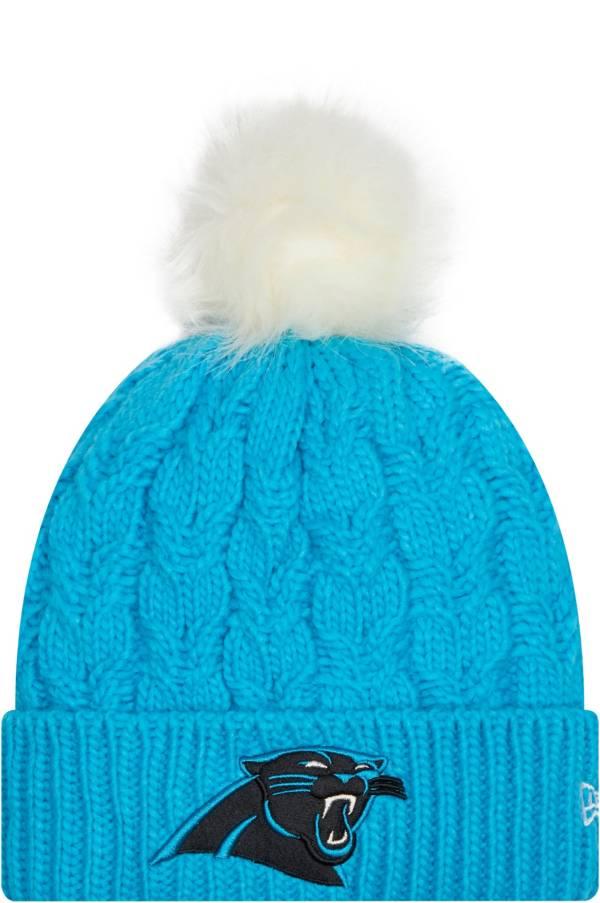 New Era Women's Carolina Panthers Blue Flurry Knit Pom Beanie product image