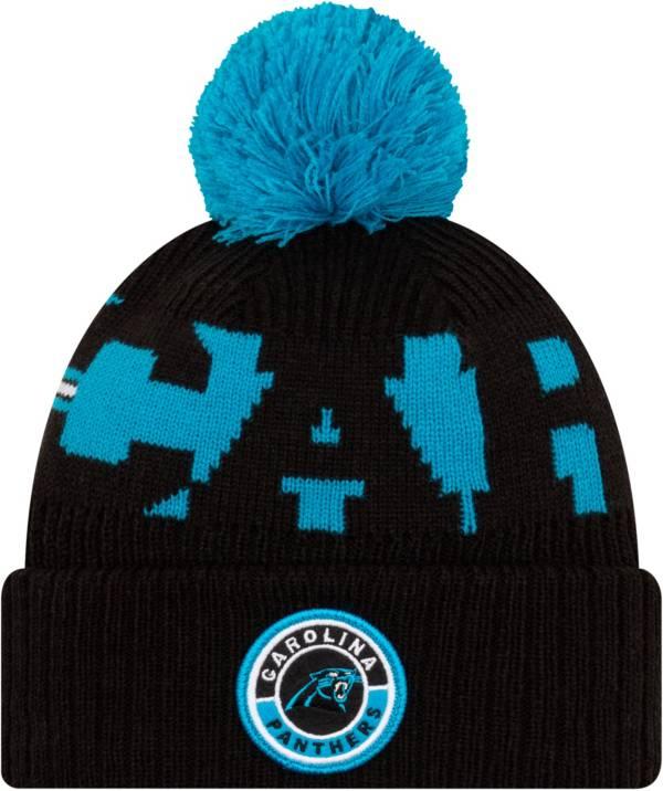 New Era Men's Carolina Panthers Sideline Sport Blue Knit Hat product image
