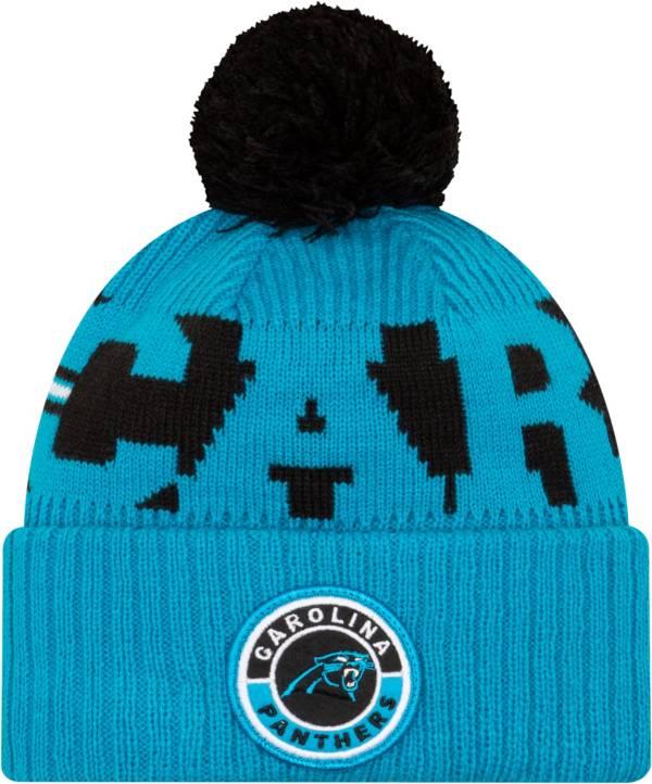 New Era Men's Carolina Panthers Sideline Sport Black Knit Hat product image