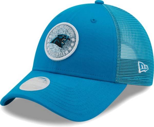 New Era Women's Carolina Panthers Blue Sparkle Adjustable Trucker Hat product image