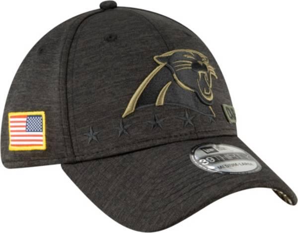 New Era Men's Salute to Service Carolina Panthers 39Thirty Stretch Fit Black Hat product image