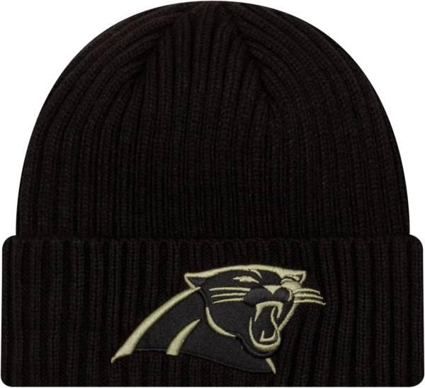 New Era Men's Salute to Service Carolina Panthers Black Knit Hat product image