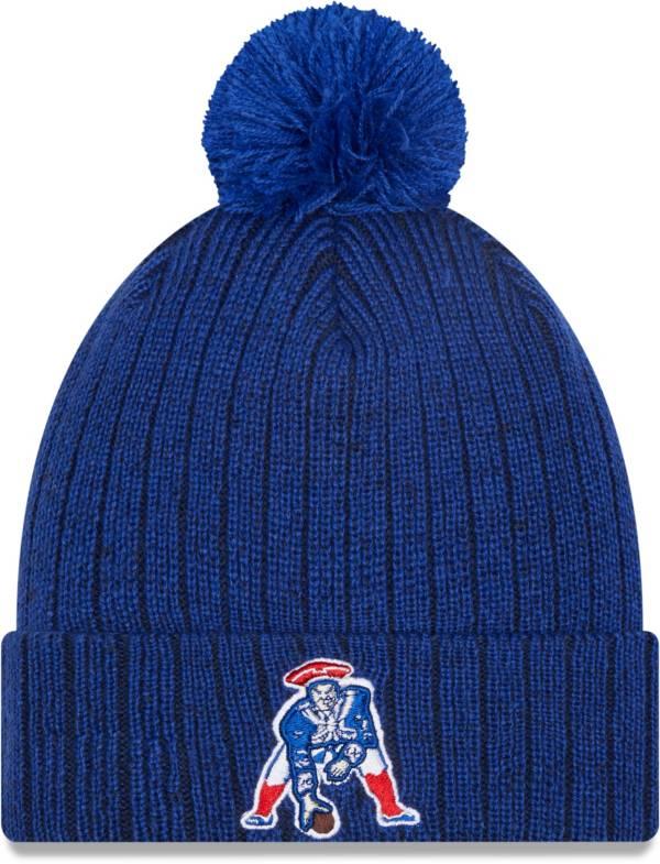 New Era Men's New England Patriots Navy Breeze Knit Pom Beanie product image