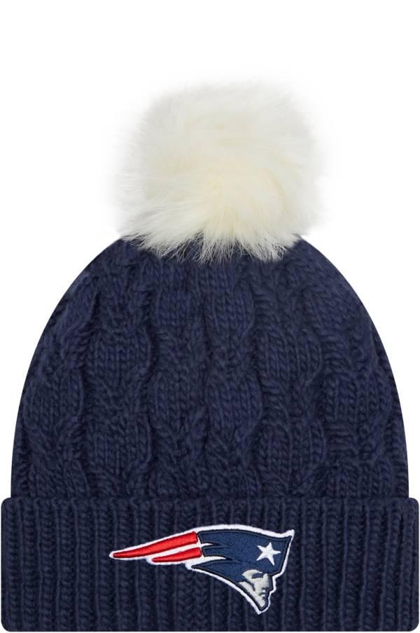 New Era Women's New England Patriots Navy Flurry Knit Pom Beanie product image