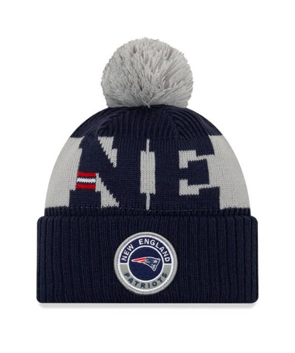 New Era Men's New England Patriots Sideline Sport Blue Knit Hat product image