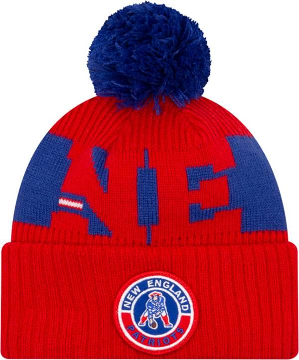 New Era Men's New England Patriots Sideline Sport Pom Knit Hat product image