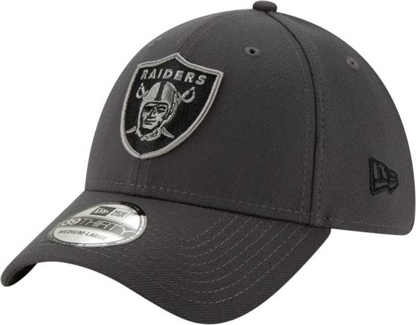 New Era Men's Las Vegas Raiders Grey 39Thirty Fitted Hat product image