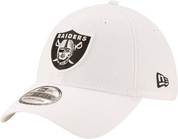 New Era Men's Las Vegas Raiders White 39Thirty Logo Fitted Hat product image
