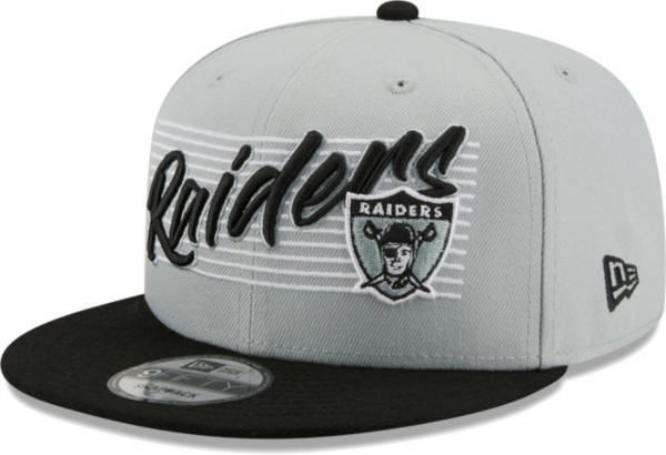 New Era Men's Las Vegas Raiders Grey 9Fifty Strike Adjustable Hat product image