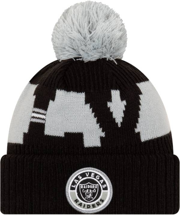New Era Men's Las Vegas Raiders Sideline Sport Black Knit Hat product image