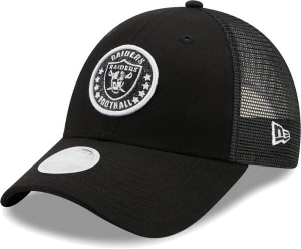 New Era Women's Las Vegas Raiders Black Sparkle Adjustable Trucker Hat product image