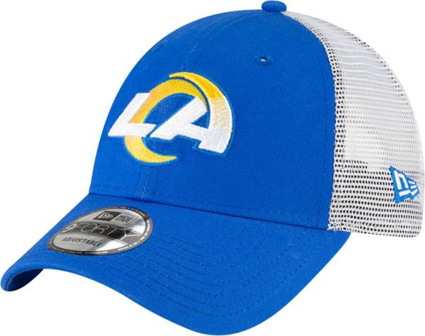New Era Men's Los Angeles Rams Royal 9Forty Trucker Adjustable Hat product image