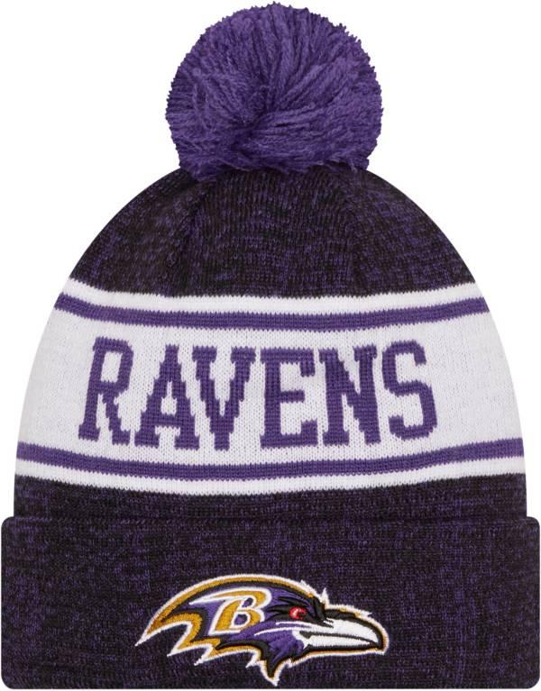 New Era Youth Baltimore Ravens Black Banner Knit Pom Beanie product image